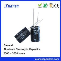 Standardgroße Kapazität des kondensator-1000UF25V