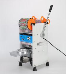 220V 電動手動プラスチックカップシーラー Boba ペーパーカップシーリング バブルミルクティーカップシーラーマシン