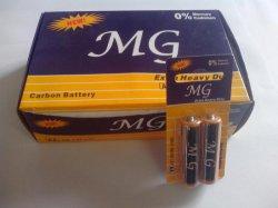 Card Pack (MG)에 있는 R6p AA 1.5V Extra 무겁 의무 Carbon Zinc Dry Cell Battery 2PCS (R6 AAA UM4)