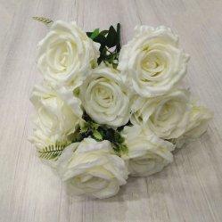 Künstliche Gewebe-Rosen-Blumen-Blumenstrauss-Anordnungs-Großverkauf-Hochzeits-Blumen