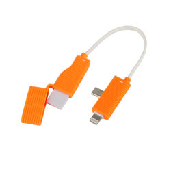 iPhone 4/4s/5/5s/6/6plusのためのニッケルのFree TPE+ABS Keychain Cell Phone Accessories USB Data Cable