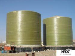 Depósito de plástico reforzado con fibra de gran escala para líquidos químicos