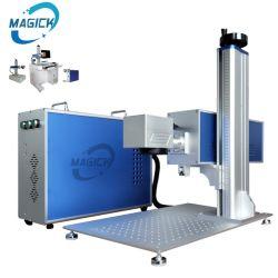 L'air de refroidissement machine de marquage au laser en plastique partielle La fibre métallique