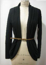 De Schouder van de Daling van de Kraag van de sjaal met de Lange Cardigan van de Koker (gl-7KL01096A)