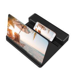 Parentesi d'amplificazione di vendita calda di vetro 3D HD della Cina Magnifier dello schermo del telefono mobile da 12 pollici video