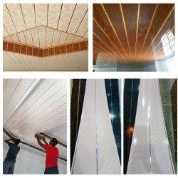 Soffitto a prova di fuoco sospeso falso del comitato del PVC del tetto della parete del gesso grande di disegno del deflettore impermeabile acustico decorativo di stirata