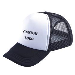 Algodão personalizada angustiado simples malha preta Baseball Caminhoneiro Pac com logotipo de enfeite