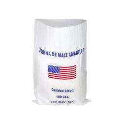 Экологичный Китая полипропиленовая ткань пластиковой упаковки 25 кг 50 кг 100 кг Обычный мешок PP тканого Raffia зерна кукурузы высевающей арахиса соль сахар пшеничной муки мешок