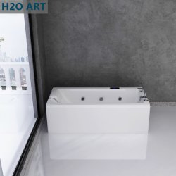 Extra totalmente equipar acrílico bañera Jacuzzi Masaje controlada por ordenador de dígito de la función de remolinos