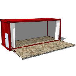 La conception de pop-up, Mobile Shipping Container Café Bar nouveau conteneur préfabriqué Kiosque de FAST FOOD Restaurant Piscine Maison à vendre