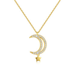 OEM Custom Fashion 925 Zilveren Juwelen ketting met Moon charme
