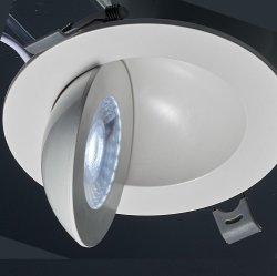 La dirección Material PBT Grado 360 LED ajustable abajo ilumina el LED del panel de Gimbal luz para la iluminación interior
