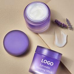 Natürliche Lavendel-Wasser-SchlafenGesichtsmaske-Antiaushärtungs-Antiknicken-hydratisierenbefeuchtende Nachtschönheits-Gel-Schablonen-Sahne
