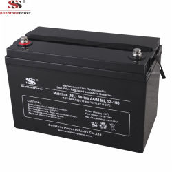 Герметичный свинцово-кислотный аккумулятор батарея типа VRLA 12V 100Ah глубокую цикла AGM источник бесперебойного питания