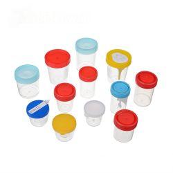 طبّيّ مستهلكة [30مل] [60مل] بلاستيكيّة بول وعاء صندوق