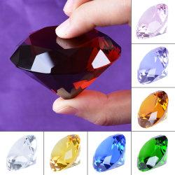 50mm 60mm 80mm K9 cristal de vidro gravado Diamond artesanato para decoração