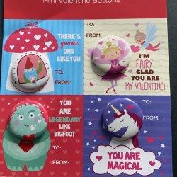 Mini-Valentine botões que você é mágica do pino de folha de flandres
