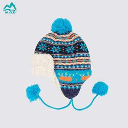 Зимний теплый Red Hat POM POM логотип вязания средства защиты органов слуха винты с акриловым флис шерсть моды Beanie ленточных накопителей