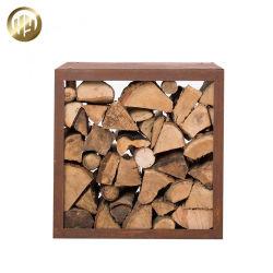 Praktische vierkante eenvoudige montage Corten Staal roestige houtopslag