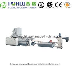 폐기물 작은 알모양으로 하기 기계를 재생하는 플라스틱 LDPE HDPE 필름에 의하여 길쌈되는 부대