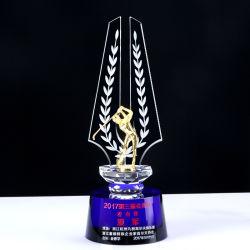 Klare Costomized Business Hochzeit Geschenk Schild Geformt Sport Style Ball Für Club Iceberg Crystal Golf Trophy Cup