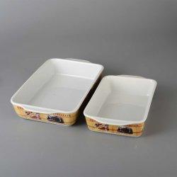 세라믹 직사각형 큰 접시를 요리하는 최고 판매 도매 음식