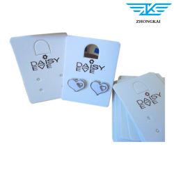 Papel timbrado personalizado jóias brinco cartões de exibição