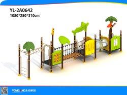 몽키 바 스윙브리지가 있는 야외 어린이 놀이 공간 파크 유치원(YL2A0642)