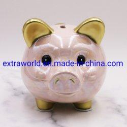 Design personalizzato con logo Ceramica risparmio di denaro forma a forma di torta scatola Banca di piggy