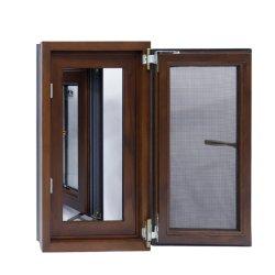 Het geïsoleerdel Klassieke Beklede Houten Openslaand raam van het Aluminium met het Scherm van de Vlieg