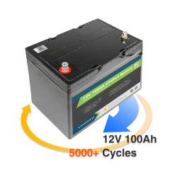 بطارية ليثيوم أيون منخفضة السعر قابلة لإعادة الشحن بقدرة 12 فولت وقدرة 100 أمبير/ساعة السعر