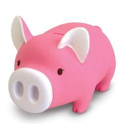 Hucha de plástico en la caja de regalo Coin dinero Almacenamiento para el cumpleaños de niños