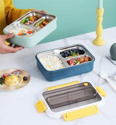 مستطيلة مانع للتسرب مدرسة الغذاء صندوق من الفولاذ المقاوم للصدأ الحاويات الغذاء للأطفال