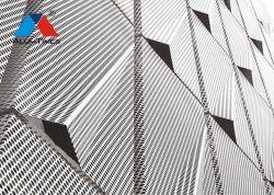 Usine intérieurs et extérieurs de gros acoustique 3D décoratifs en aluminium Panneau mural