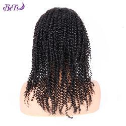 安い価格のアフリカのねじれた巻き毛の質のインドのRemyの毛の新しい到着の織り目加工のかつら
