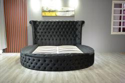 Cama redonda caja de terciopelo de CAMA CAMA CAMA de almacenamiento de muebles de salón