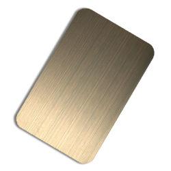 201 304 316 produits en acier inoxydable de la brosse de la Chine fournisseur plaque dorée