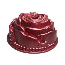 로즈 디자인 케이크 몰드 주조 알루미늄 논스틱 케이크 팬