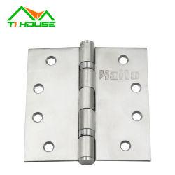 Rodamiento de bolas de cabeza plana de altas prestaciones Puerta de tope de acero inoxidable Bisagra de seguridad de la puerta comercial de metal Bisagra
