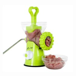 고기 다지기 - 수동 고기 분쇄기 핸드 크랜크형 흡입대 홈키친 정육고기 소시지 야채 에스구12258