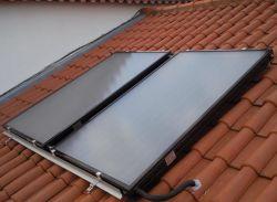 Использования солнечной энергии для нагрева воды с плоской панелью солнечного коллектора