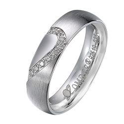 Лидер продаж среди классических Custom из нержавеющей стали мужская женщин свадебные кольца