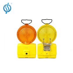 黄色の高可視緊急点滅 LED トラフィックバリケード警告灯 バッテリ電源