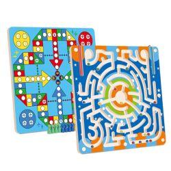 As crianças personalizado de brinquedos educativos 2 em 1 Labirinto Magnético Series jogo de tabuleiro