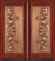 Cer bestätigte Sicherheits-/Copper-Panel-/Aluminiumpanel-gepanzerte Mittlerer Osten geschnitzte Art-Doppelt-Blatt-Tür