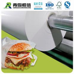PE van de Rang van het voedsel Met een laag bedekt Document voor de Verpakking van de Hamburger