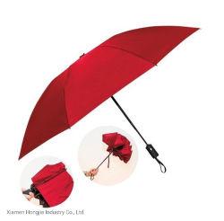 Três cores sólidas de moda guarda-chuva promocional de dobragem para viagens