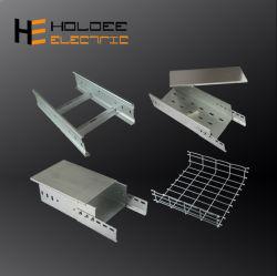 Bovengrondse elektrische draadbanen van 300 mm voor zwaar gebruik en HDG 24-vermogen Geperforeerde kabellades ladder Trunking Basket connectoren Standaard Groottebeheer
