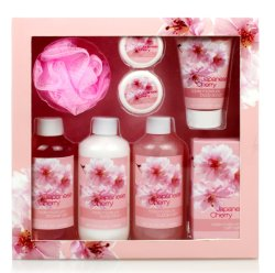 body Care SPA Japanese 발렌타인 데이 숙녀 버찌 목욕 선물 세트