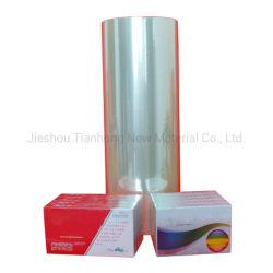 Estanqueidade térmica Plástico filme BOPP selagem a quente tubo rígido de filme de PVC para embalagem de cigarros de embalagens de tabaco